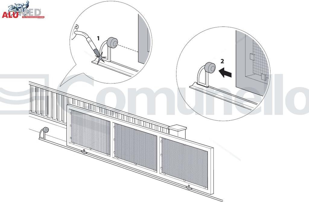 Tope para puertas correderas de acero, con tope de goma.: Amazon.es: Bricolaje y herramientas
