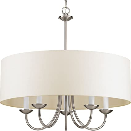 progress lighting p4217 09 5 lt chain hung fixture with off white
