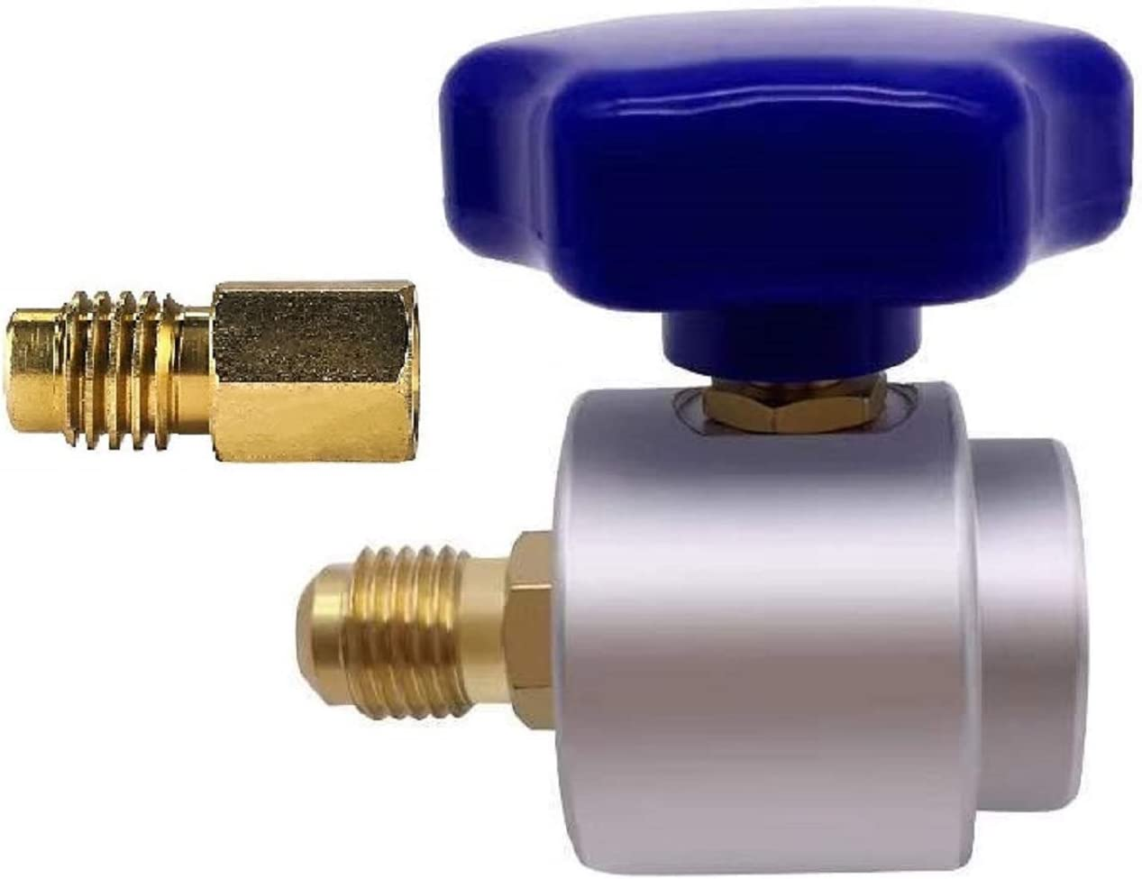 Boltigen Self Sealing R134A Can Tap Valve Refrigerant Dispenser with Tank Adapter for 1/4 and 1/2-inch AC Freon Charging Hose