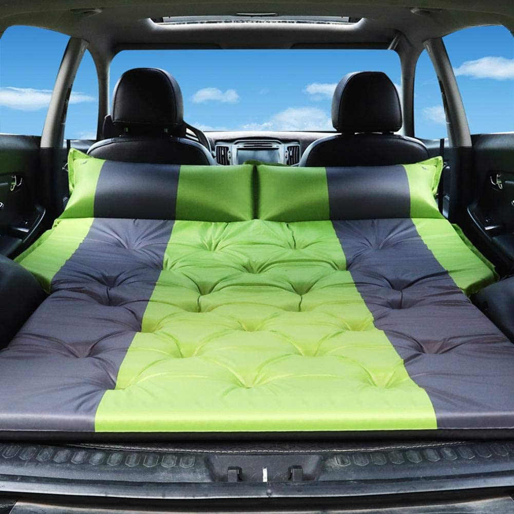 IMCROWN Car Camping Air Mattress,Portable Travel Camping Mattress Sleep Bed Auto Blow Up Bed Inflatable Mattress Raised Airbed for Car Mattress SUV Minivan Hatchback Camping Tent
