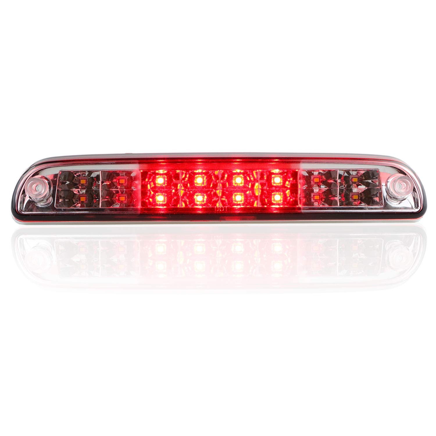 Replacement Parts Red Lens Dantoo High Mount 3rd Brake Light Dual ...