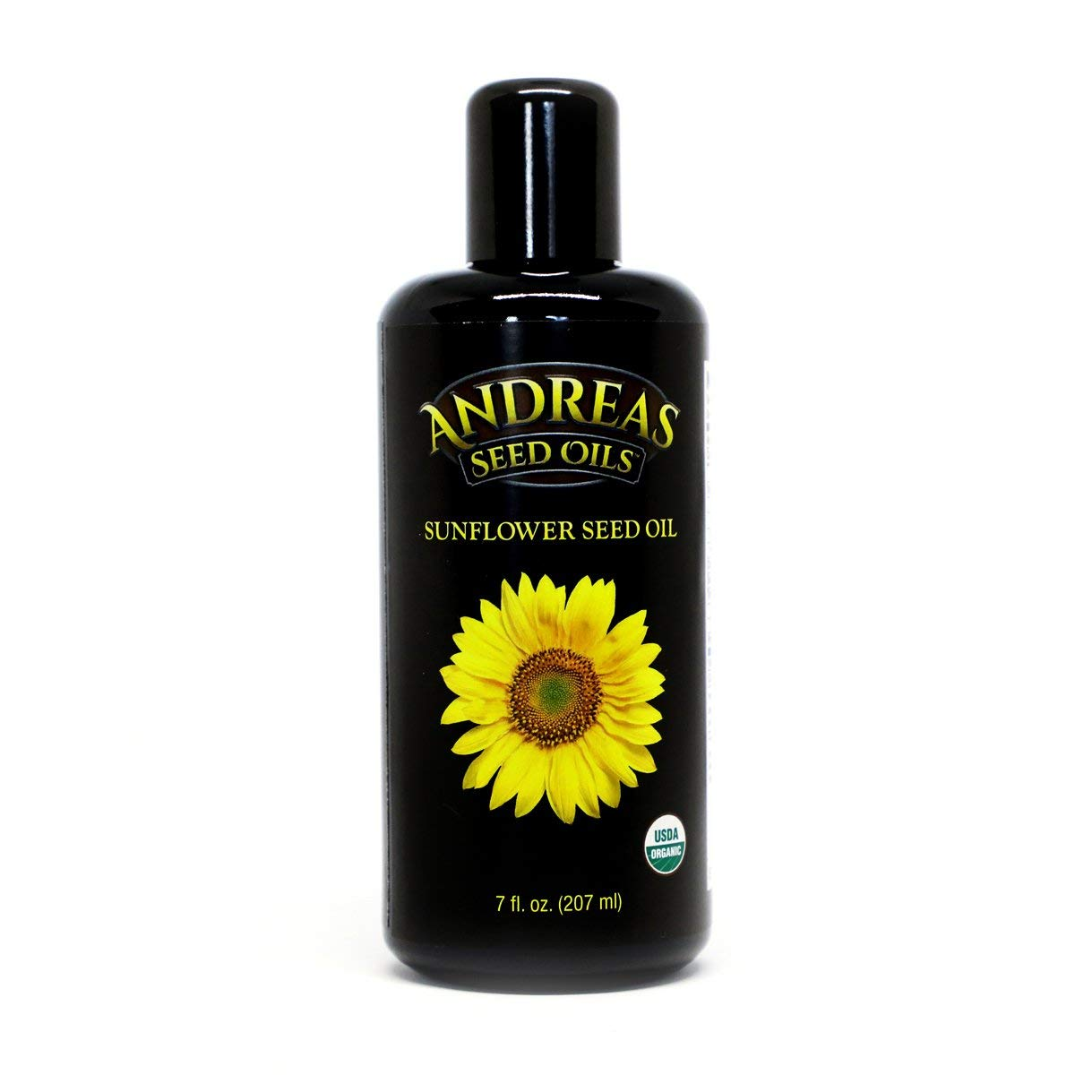Andreas Seed Oils - Sunflower Seed Oil - Cold pressed from USDA organic, Non GMO seeds. by Andreas Seed Oils