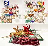 JZ Bundles Mega Set - Best of Christmas - Kurt Adler - 86-Piece Bundle - A Bundle of Christmas Ornaments Great Gift