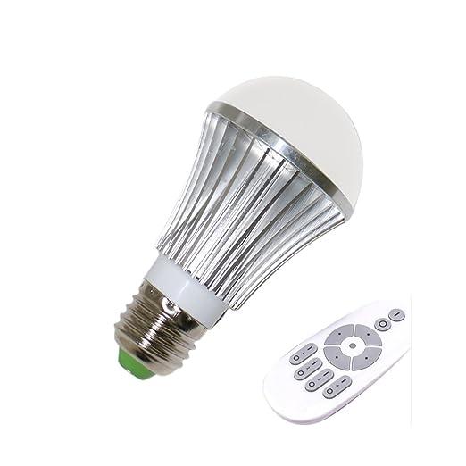 Lampada Led Con Telecomando.Usbonline E27 Lampadina Led Con Telecomando 6w 2700 Kelvin Bianco