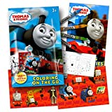 Thomas The Train Coloring Activity Pack with Stickers, Crayons and Coloring Activity Book Bundled with Specialty Separately Licensed GWW Reward Sticker