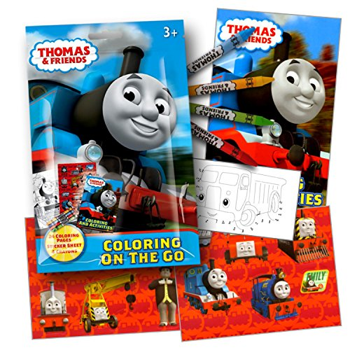 Thomas The Train Coloring Activity Pack with Stickers,, used for sale  Delivered anywhere in USA