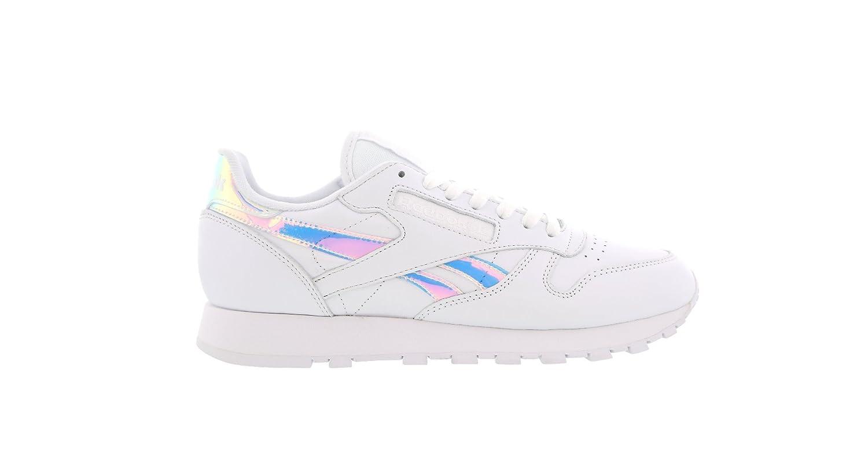 Reebok Clásico Cuero Metalizado Zapatillas blancas - Blanco, 39: Amazon.es: Zapatos y complementos