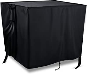 Onlyme Gas Fire Pit Cover Square 28 Inch, Waterproof,Windproof,420D Fire Pit Table Cover for Outdoor and Indoor - Black (28 x 28 x 25 inch)