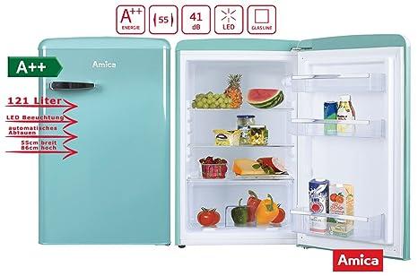 Amica Kühlschrank Pink : Amica retro nostalgie vollraumkühlschrank türkis hellblau a 121 l