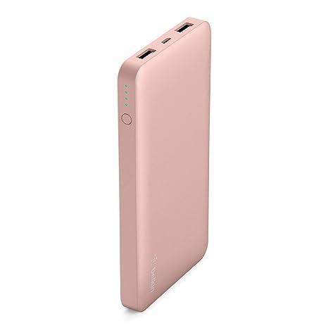 Belkin Pocket Power Bank - Batería Externa portátil de 10000 mAh (con certificación de Seguridad para iPhone ...
