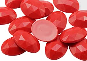15L Red Artistic Flat Rectangular Smooth Beads approx 13x18mm