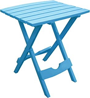 product image for Adams Manufacturing 8500-21-3700 Plastic Quik-Fold Side Table, Pool Blue