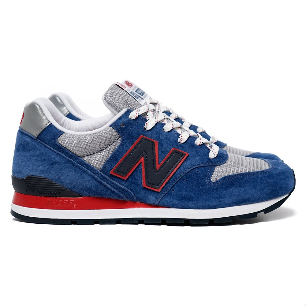 New Balance Men's Connoisseur East Cost Summer 996 Classic Blue/Grey/Red M996CMB (Size: 13)