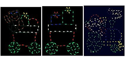 60 pro line led santa train wire frame christmas decor - Santa Train Outdoor Christmas Decoration