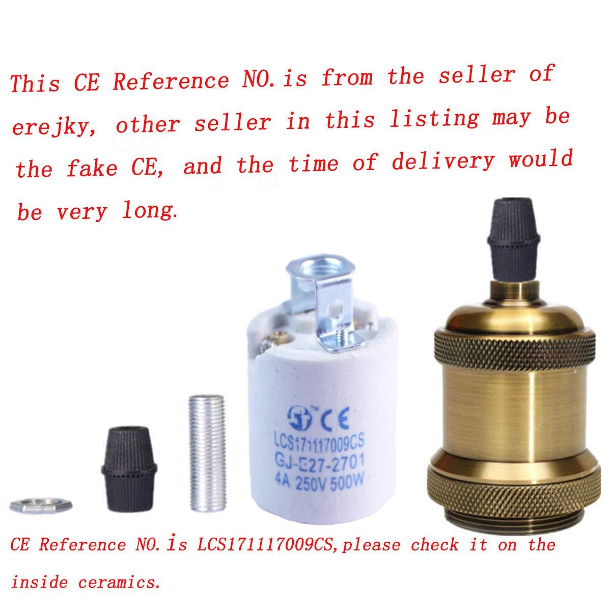 Support en c/éramique Licperron 4 Pack 220.0volts Lot de 2 douilles E26 // E27/en laiton massif pour ampoule