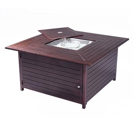Propano Gas al aire libre Fire Pit mesa muebles de cocina ...