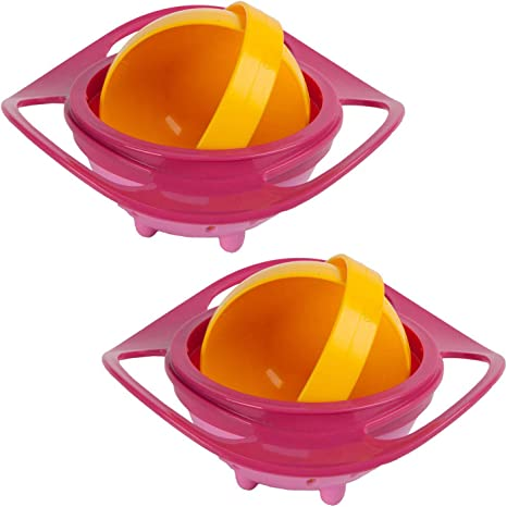 Cuenco de alimentaci/ón Befaith para beb/é a prueba de derrames giratorio 360/° que evita que se derrame la comida