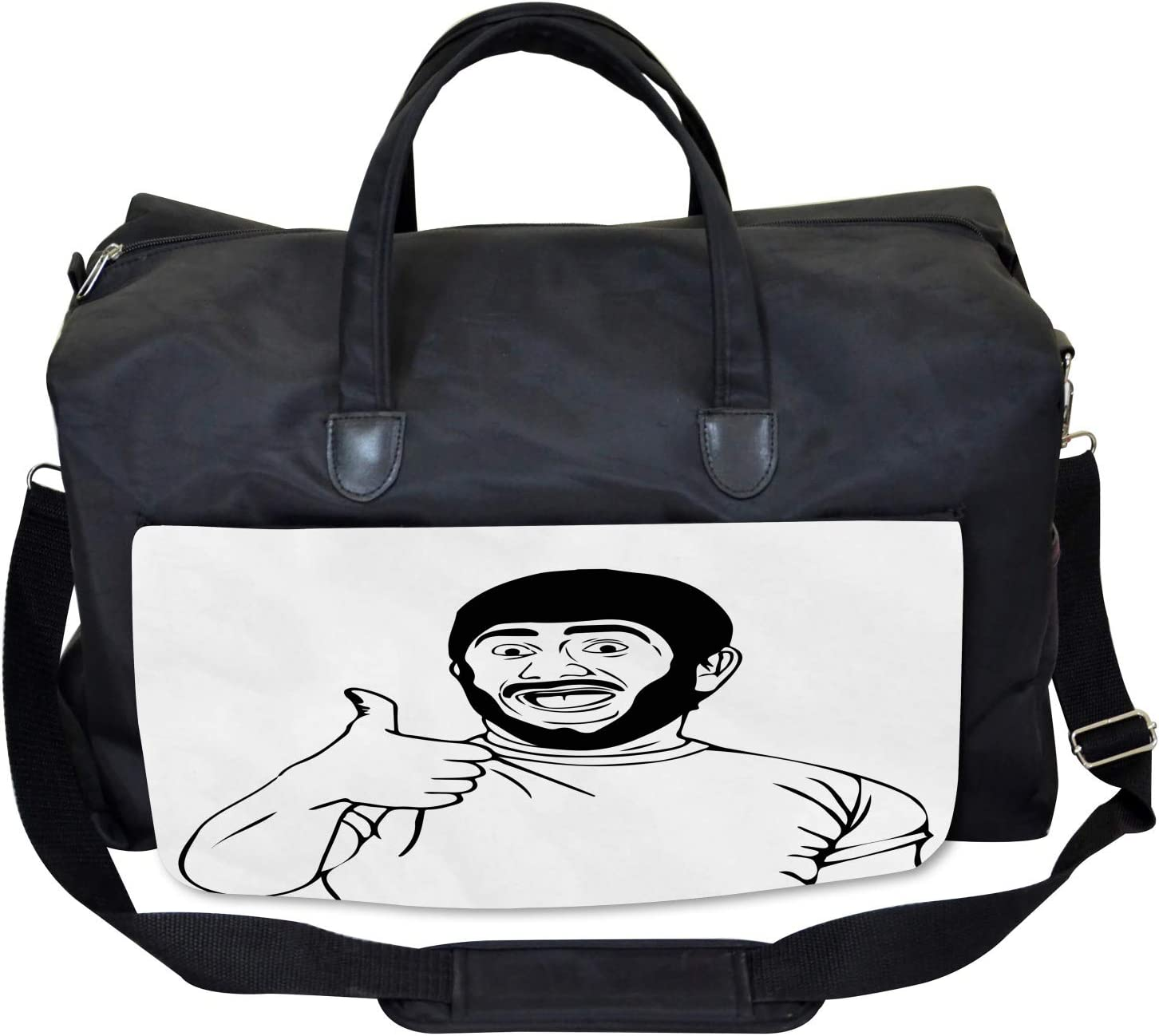 Nice Job Bro Thumbs Up Ambesonne Humor Gym Bag Large Weekender Carry-on
