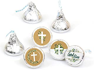 product image for Elegant Cross - Religious Party Round Candy Sticker Favors - Labels Fit Hershey's Kisses (1 Sheet of 108)