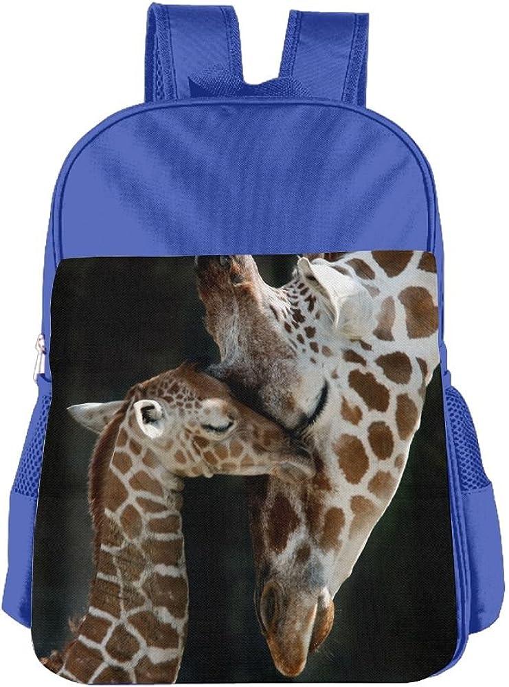 Giraffe Girls Blue Preschool Toddler Childrens Backpack /& Lunch Box Set