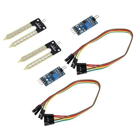 Yardwe 2 Unidades De Sensores De Humedad Del Suelo Módulos