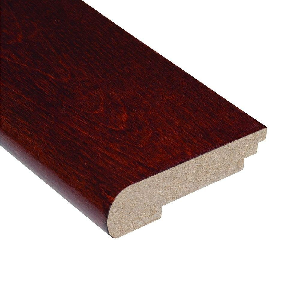 Home Legend Birch Cherry 1/2 in. Thick x 3-1/2 in. Wide x 78 in. Length Hardwood Stair Nose Molding