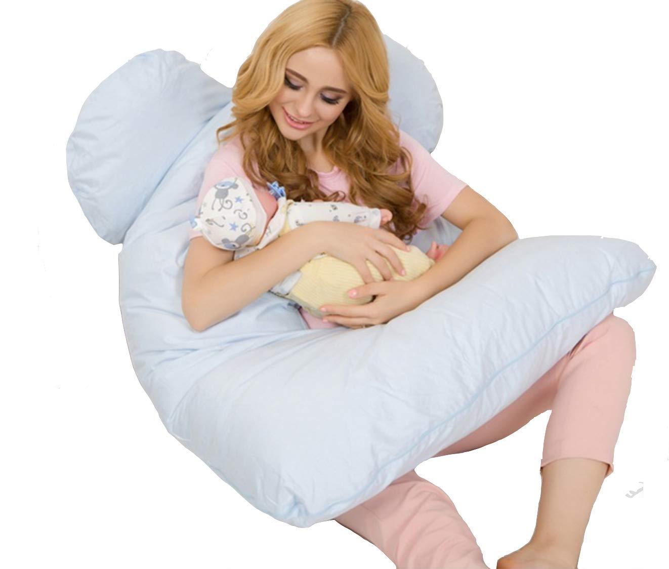 Coussin de grossesse idéal pour dormir - Oreiller de maternité et coussin d'allaitement en U. Soutient parfaitement le ventre et évite les douleurs de dos (Coloris au choix - 130x70cm) Mater & Co
