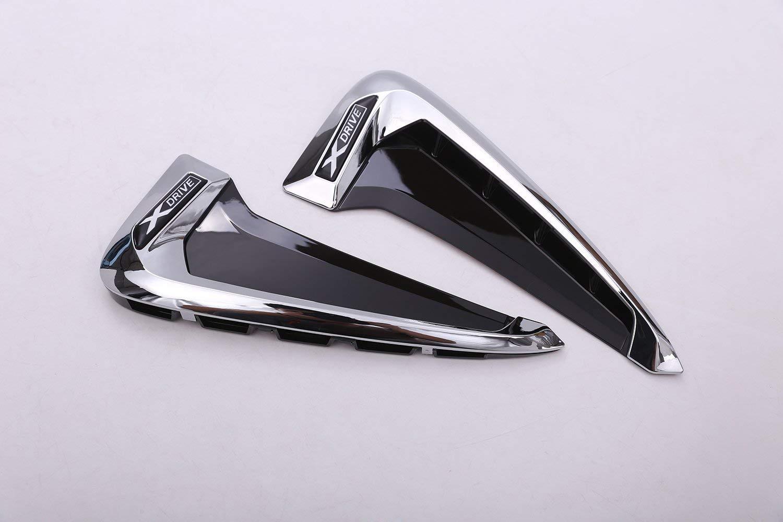 ABS Xdrive Carbon Fiber Shark Gills Decorazione laterale Fender Vent Trim per X5 F15 X5M F85 14-17-Silver White