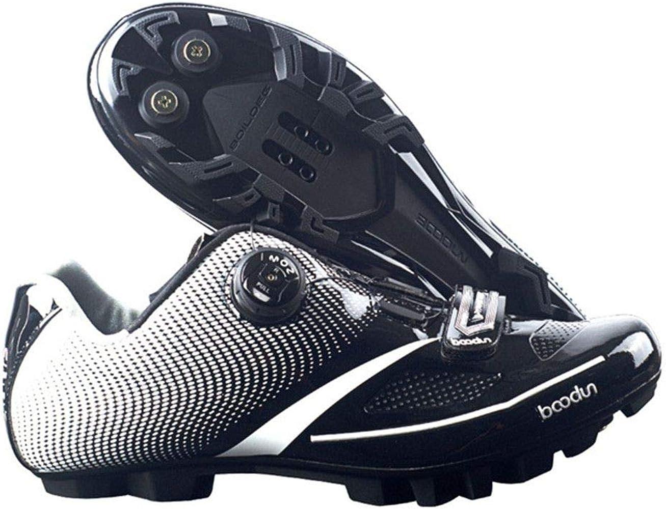 Zapatillas de Ciclismo para Hombre, Transpirables, para Bicicleta ...