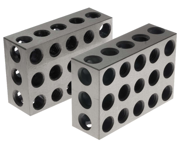 "1 PAIRS ULTRA PRECISION 1-2-3 BLOCKS 23 HOLES .0001/"""