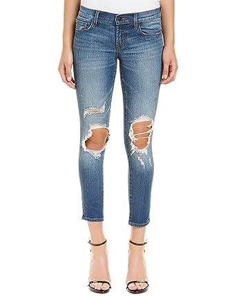 fe0ccfa2e953 Amazon.com: J Brand Jeans Women's 9326 Low Crop Skinny Jeans in Decoy  Destruc: Clothing