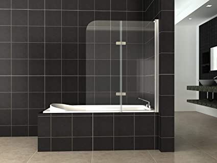 Vasca Da Bagno Vetro : Hnnhome pannello vasca da bagno doccia singolo in vetro mm