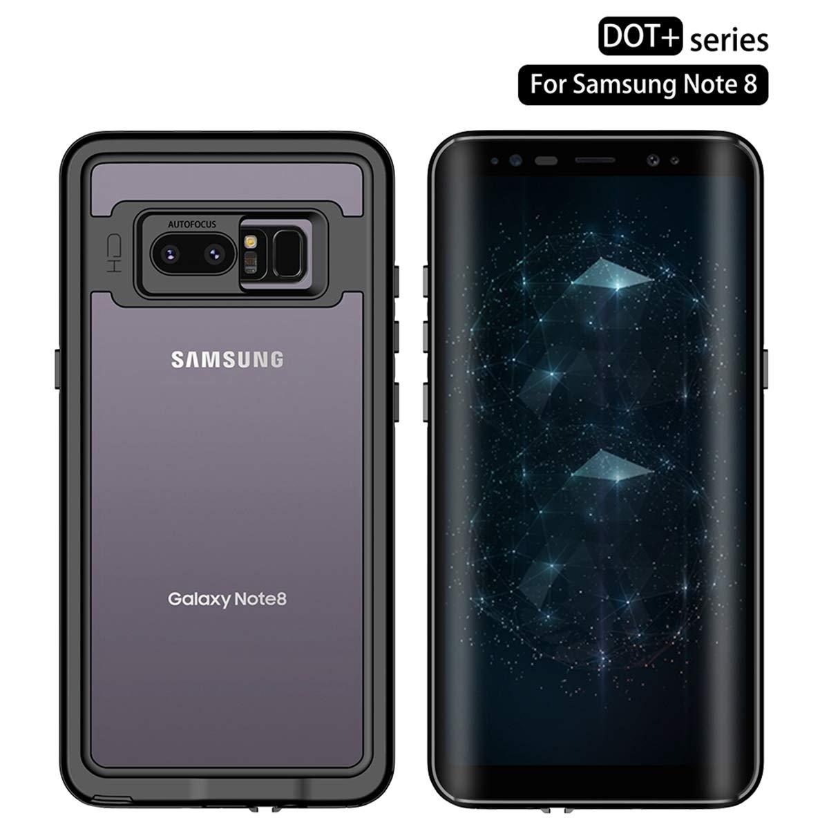 Galaxy Note 8 2017 Custodia Impermeabile, IP68 Antiurto Waterproof Custodia Schermo Incorporato, Prova Caduta Robusta, Protezione Prova Polvere Case per attività Protezione Prova Polvere Case per attività adorehouse UK25-SL-124