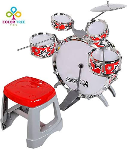 6x Wooden Kids Music Instruments Kit Toys Preschool Learning Percussion Set