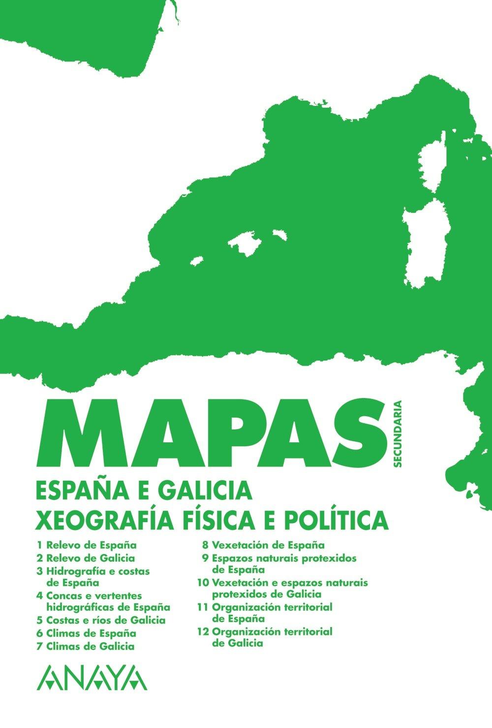 España e Galicia: Xeografía física e política: Amazon.es: Anaya Educación: Libros