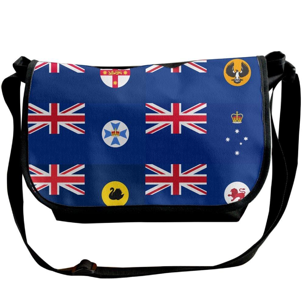 affcdfe3ccdd 60%OFF Futong Huaxia Australian State Flags Travel Messenger Bags Casual Handbag  School Shoulder Bag