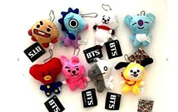 Bts Mini Plush Keychain Set - 8 pcs Set