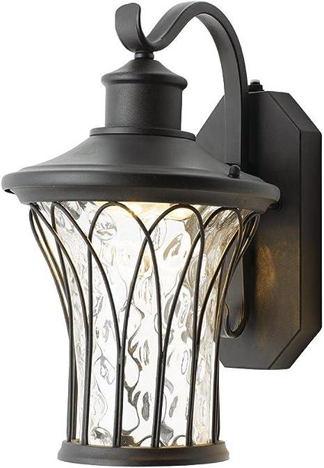 Home Decorators Collection Black Medium Outdoor Led Dusk To Dawn Wall Lantern Amazon Com