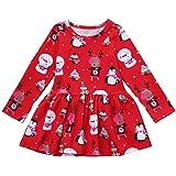KanLin1986 Abbigliamento bambino bambina Natale vestito manica lunga