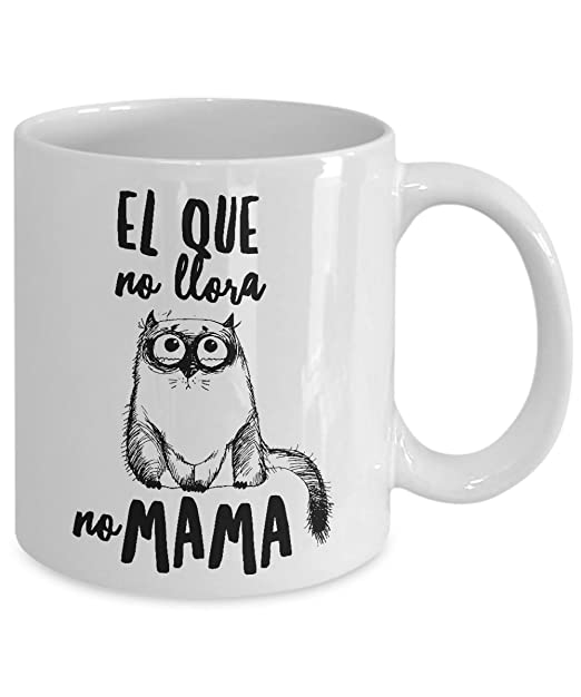 Amazon.com: Taza de Cafe Chistosa de Gato ; Mug in Spanish ; Humor Latino Gift: Kitchen & Dining