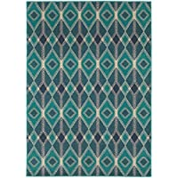 Oriental Weavers 6627B Highlands Area Rug, 23 x 76, Blue/Teal