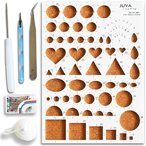 Juya Paper Quilling Tools Kits with Board, Slotted, Glue Bottle and Others (Blue Tools) by JUYA