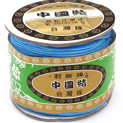 120 Meters 131 Yard Nylon Handcraft Braid Rattail Beading Cord Chinese Knotting Thread Rope Black Diameter 0.8mm DIY BCACS13296