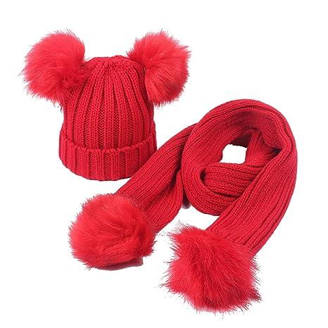 Tukistore Inverno Bambino Cappello e Sciarpa di Maglia bfc15f6d9031
