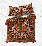 Exclusive King Size mandala duvet cover with pillowcases By Labhanshi, mandala bedding, mandala duvets, mandala bedroom decor, boho comforter cover