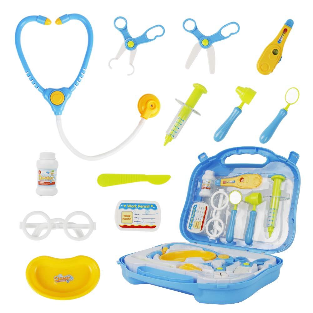 MEHRWEG Arztset Zuf/ällig Geliefert Kinderspielzeug/Arztset Zubeh/ör Doktorkoffer Spielzeug f/ür Kinder ab 3 Jahren Arztkoffer