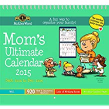 Motherword DDTB1128 Mom's Ultimate 16-month Tabbed Wall Calendar, September 2014-December 2015, 12 x 21-1/2 Inches