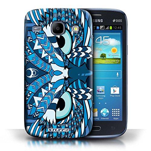 Kobalt® Imprimé Etui / Coque pour Samsung Galaxy Core / Hibou-Bleu conception / Série Motif Animaux Aztec