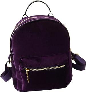 OULII Petits sacs à dos de mode Femmes sac à dos sac de voyage de l'école décontractée (violet)