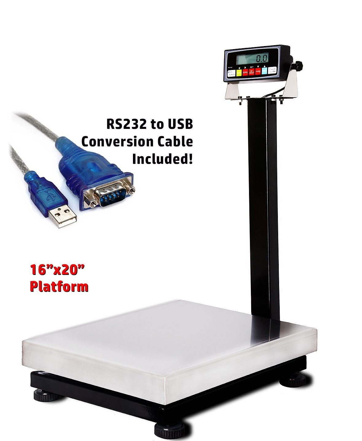 Prime Scales 800lb/0.05lb 16''x20'' Smart Bench Scale / Checkweigher with Indicator+USB+Software